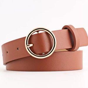 Accessories - Tan Belt / Gold Buckle